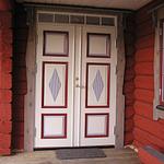 Målade dörrmönster