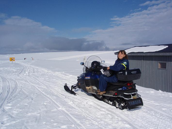 Det finns gott om snöskoterleder kring Granfjällsstöten.